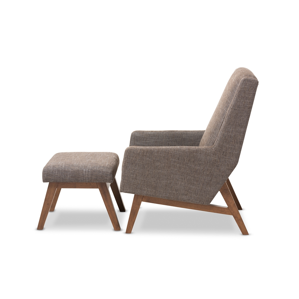 Baxton studio aberdeen mid century modern walnut wood for Contemporary lounge chairs