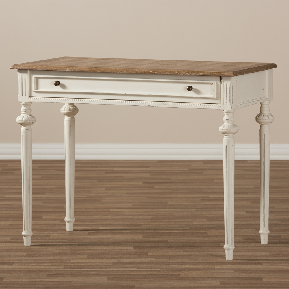 Baxton Studio Marquetterie French Provincial Weathered Oak