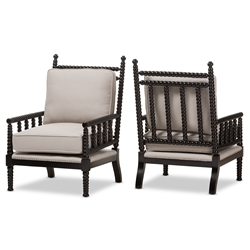 modern accent chairs for living room. baxton studio hillary modern and contemporary beige fabric upholstered black finish wood spindle-back accent chairs for living room