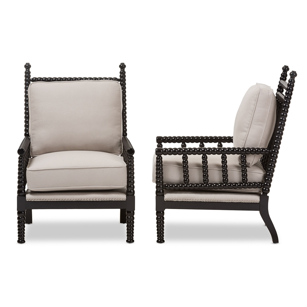 baxton studio hillary modern and contemporary beige fabric  -  baxton studio hillary modern and contemporary beige fabric upholsteredand black finish wood spindleback