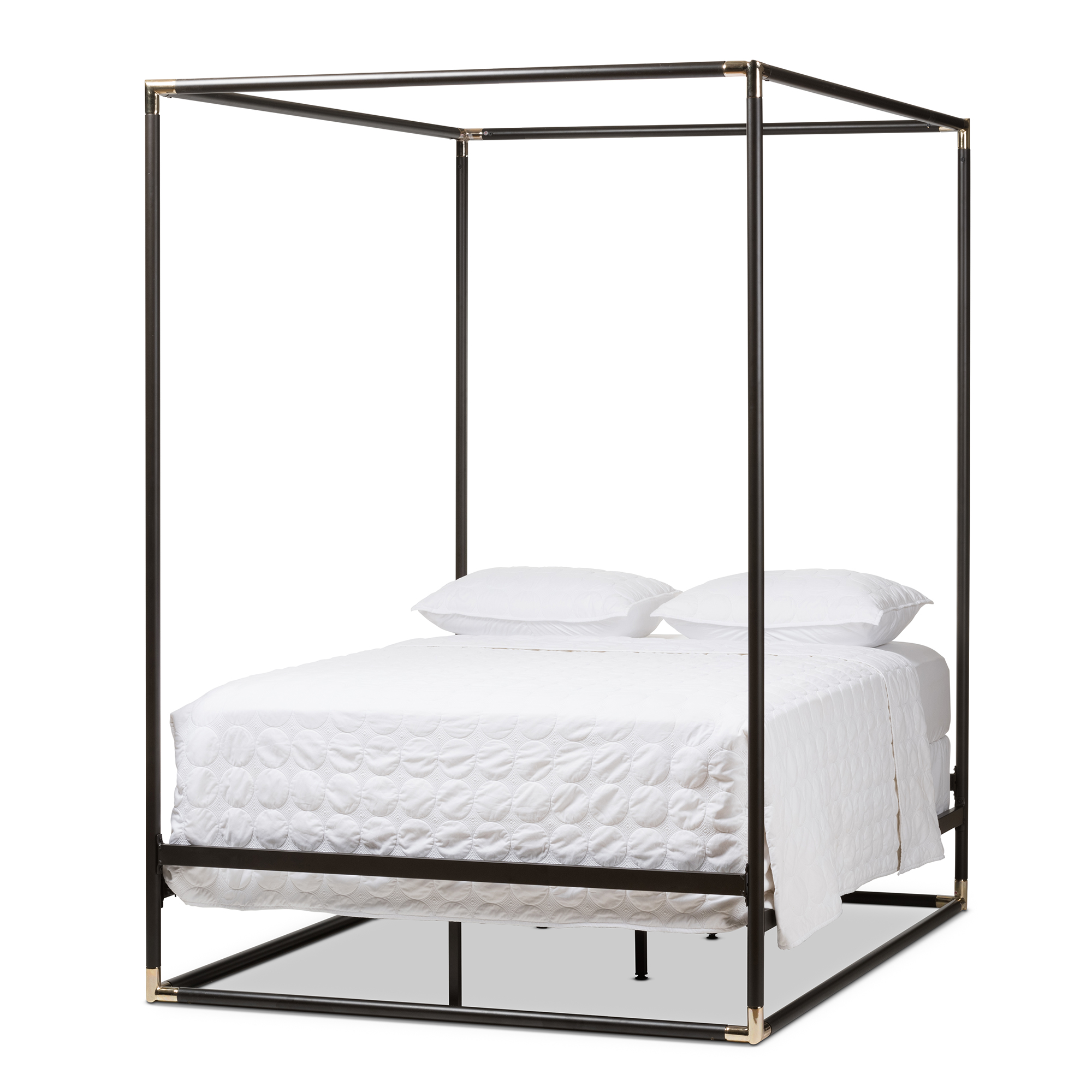 Metal canopy beds standard furniture princess canopy bed for Brass canopy bed frame