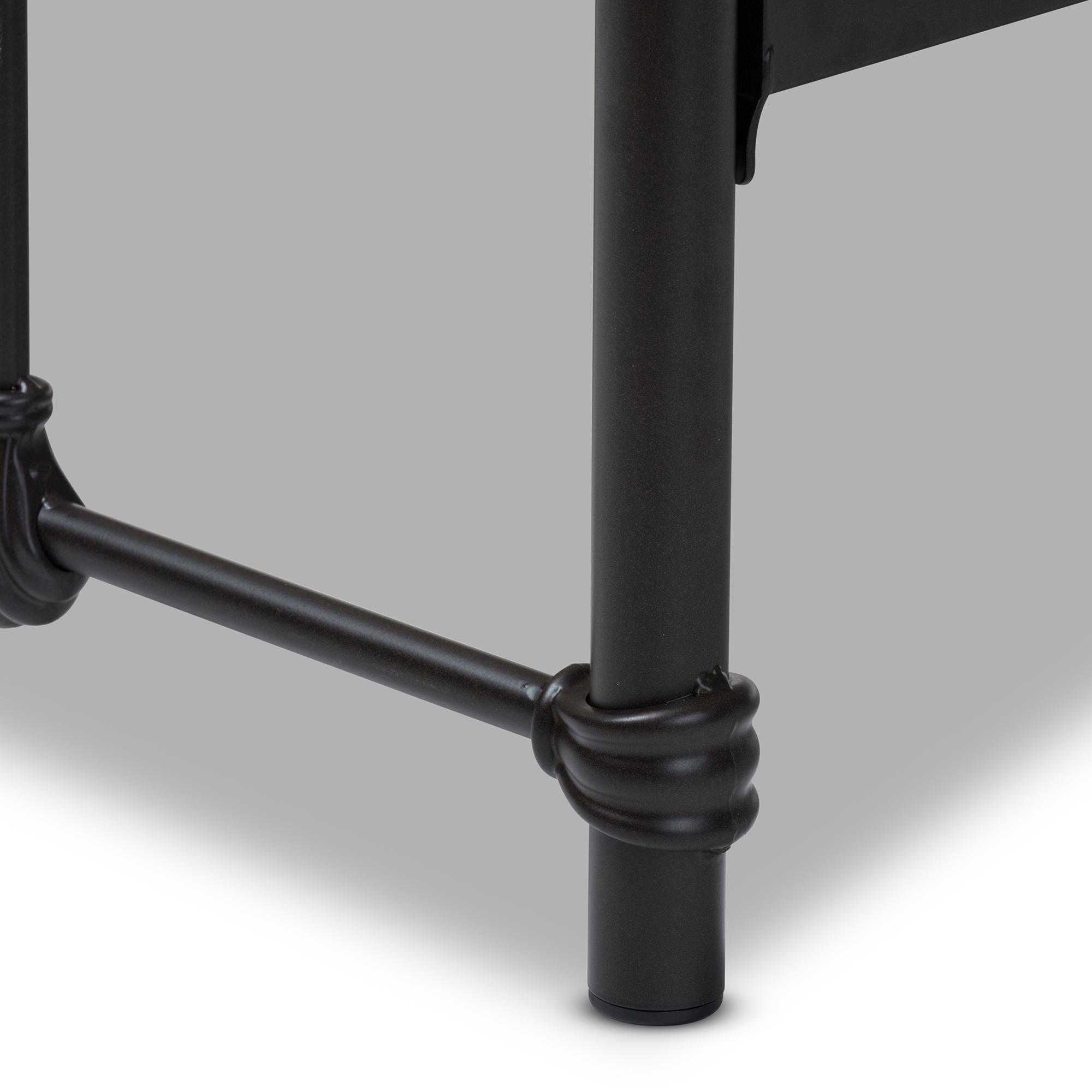 baxton studio mandy industrial style antique dark bronze twin size metal platform bed bsots105