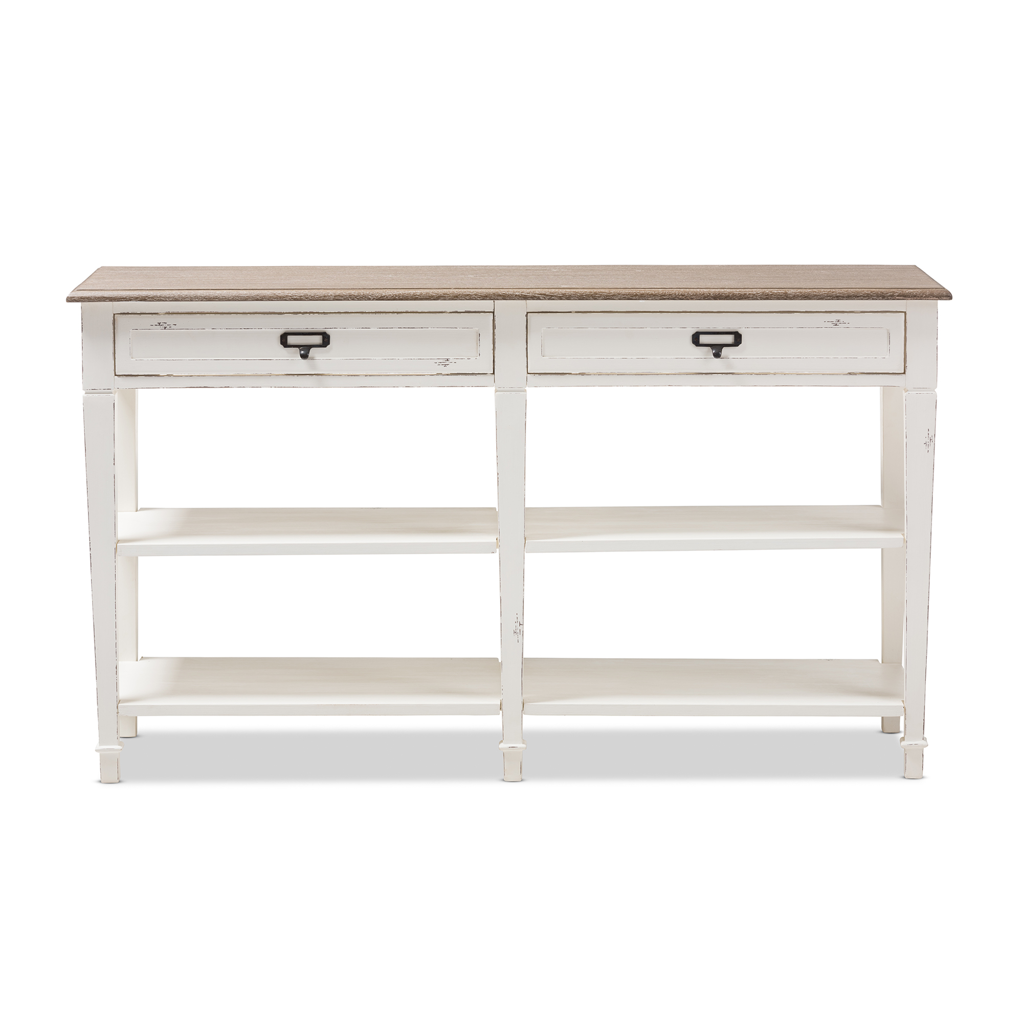Distressed Wood Console Table With Drawers Bluestone