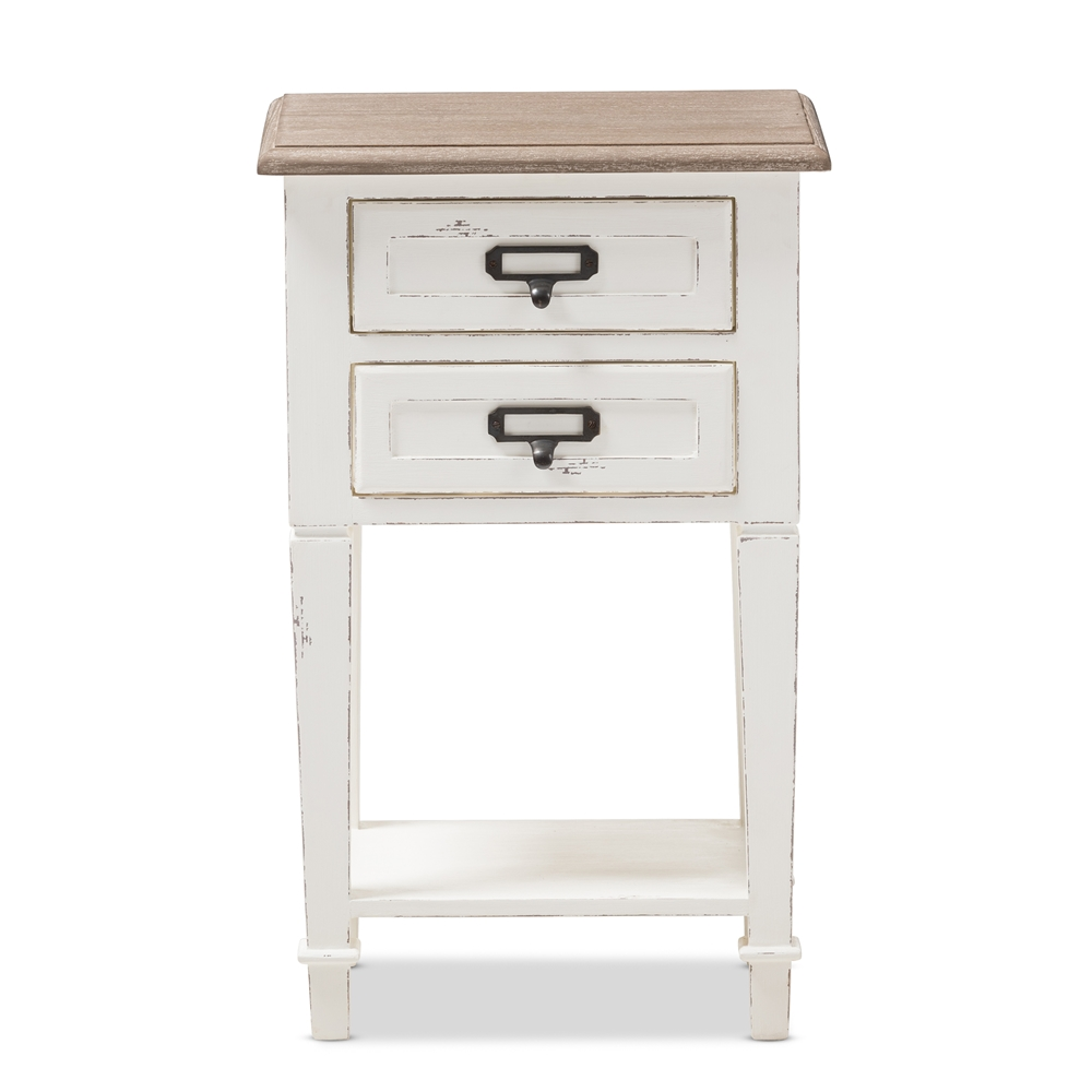 Baxton Studio Dauphine Provincial Style Weathered Oak And