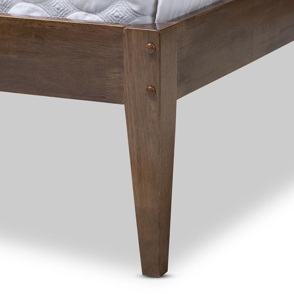 Baxton Studio Elmdon Mid Century Modern Solid Walnut Wood