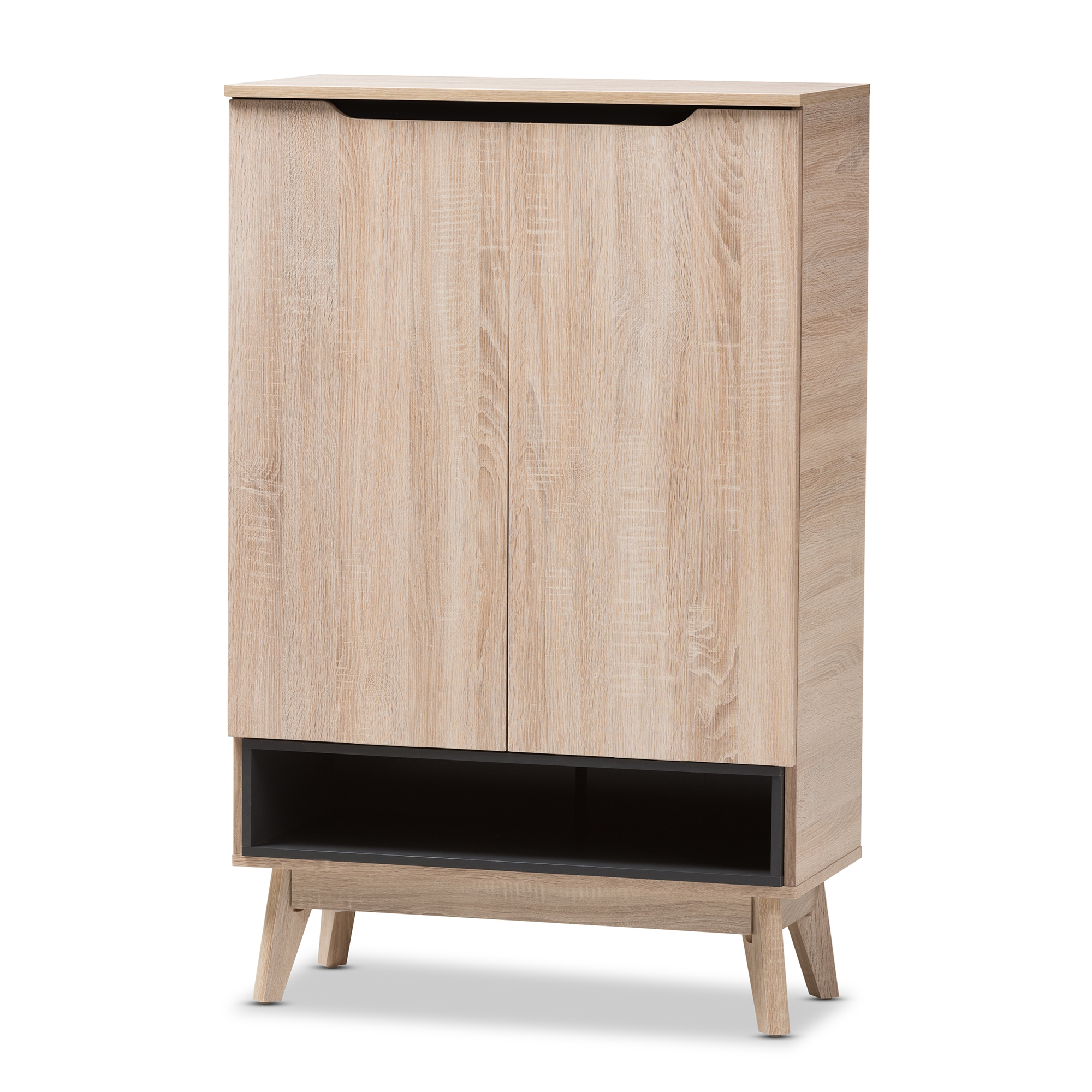Baxton Studio Fella Mid-Century Modern Two-Tone Oak And