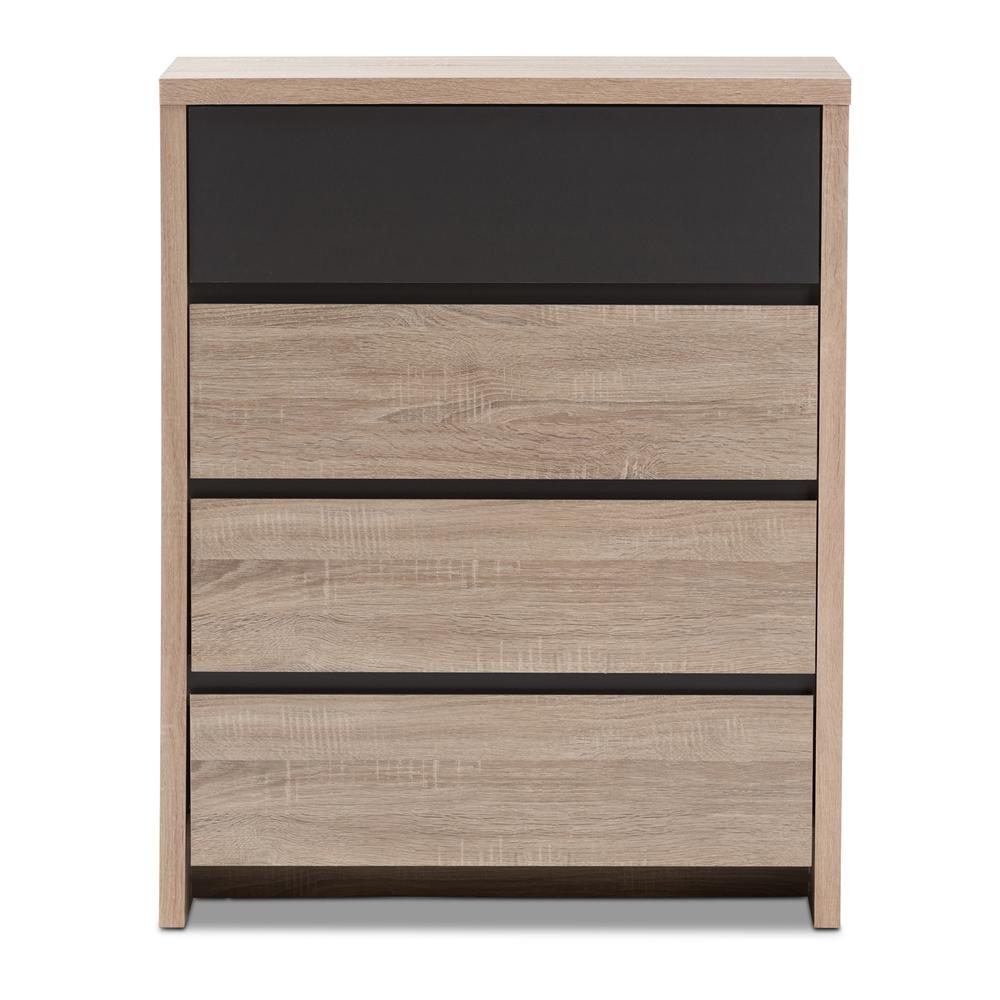 baxton studio jamie modern and contemporary twotone oak and grey  -  baxton studio jamie modern and contemporary twotone oak and grey wooddrawer