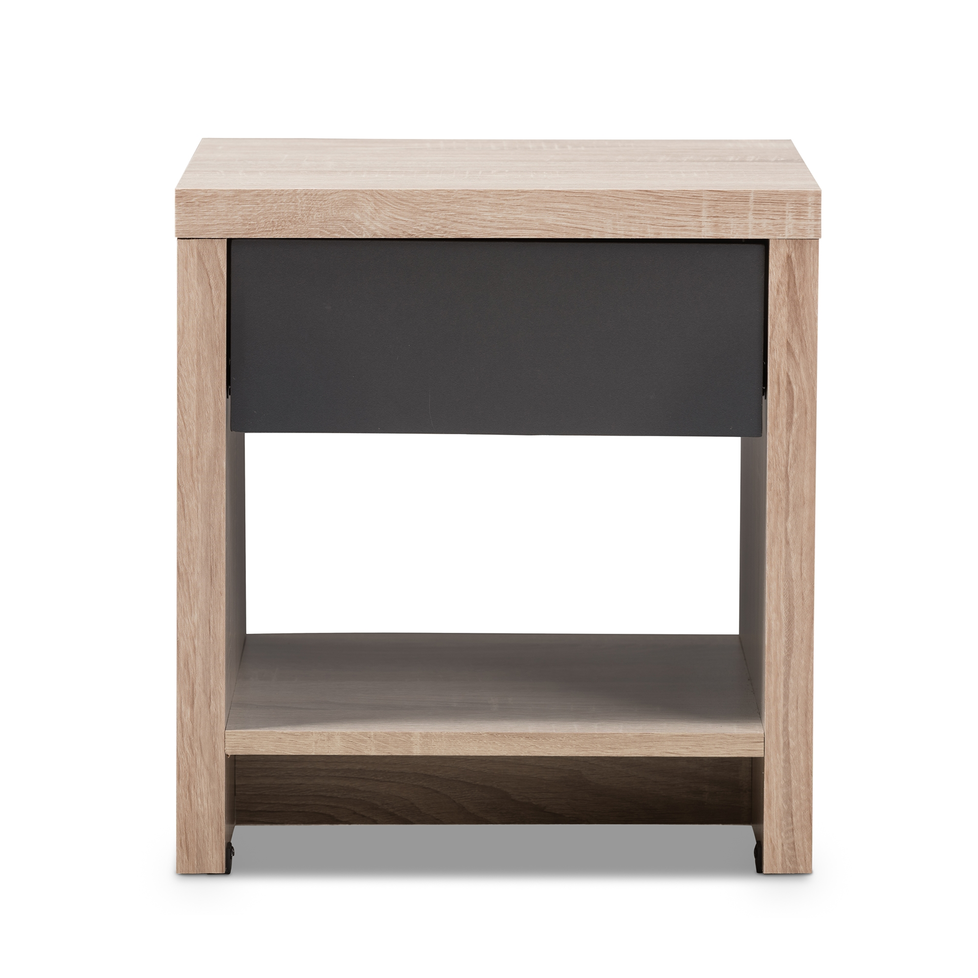 ... Baxton Studio Jamie Modern And Contemporary Two Tone Oak And Grey Wood  1 Drawer ...