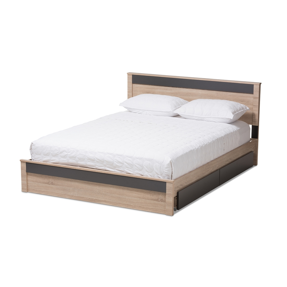 Baxton Studio Jamie Modern And Contemporary Two Tone Oak
