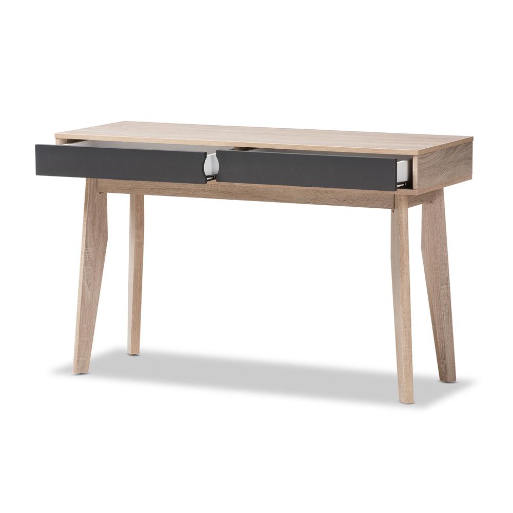 baxton studio fella midcentury modern drawer oak and grey wood  -  baxton studio fella midcentury modern drawer oak and grey wood studydesk
