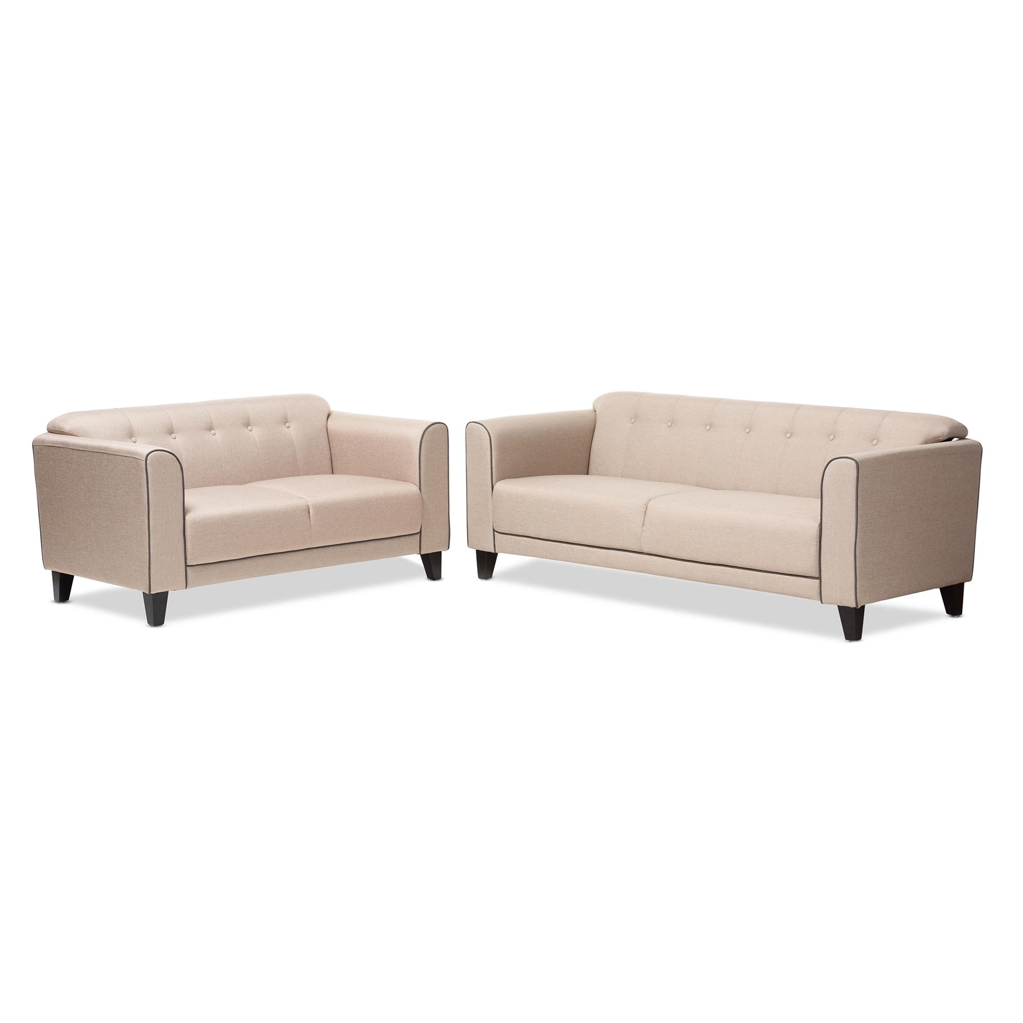 Beige Sofa Set Moser Bay Furniture Garcia Collection Linen And