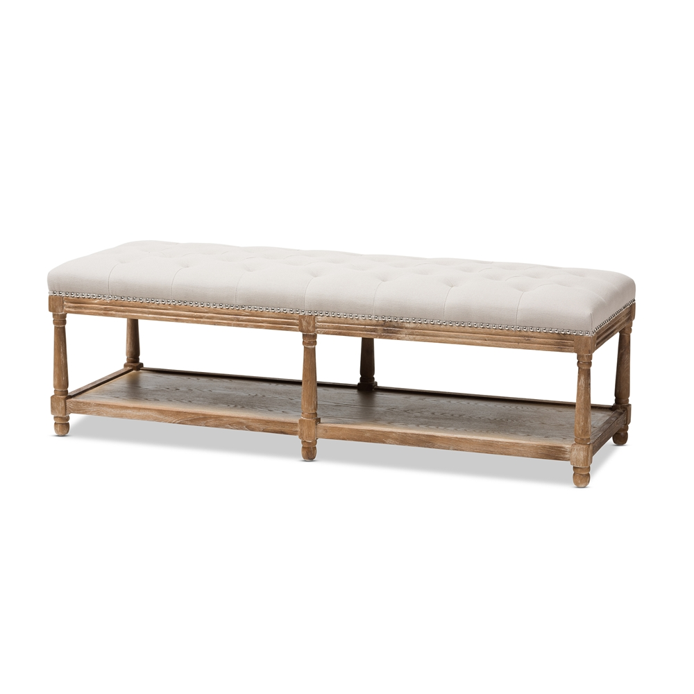 Baxton Studio Celeste French Country Weathered Oak Beige