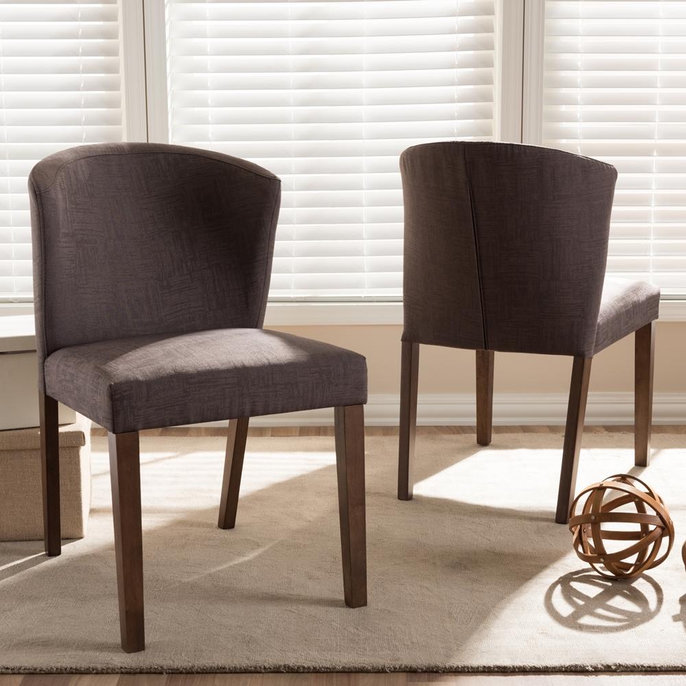 Baxton studio cassie mid century modern walnut wood light for Modern walnut dining chairs