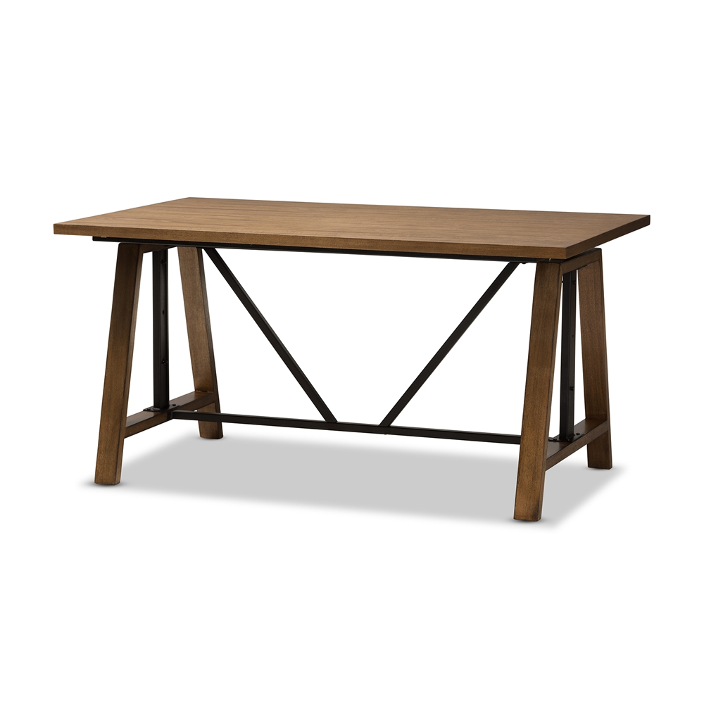 Baxton Studio Nico Rustic Industrial Metal and Distressed Wood Adjustable  Height Work TableBaxton Studio Nico Rustic Industrial Metal and Distressed Wood  . Nico Counter Height Dining Stool. Home Design Ideas