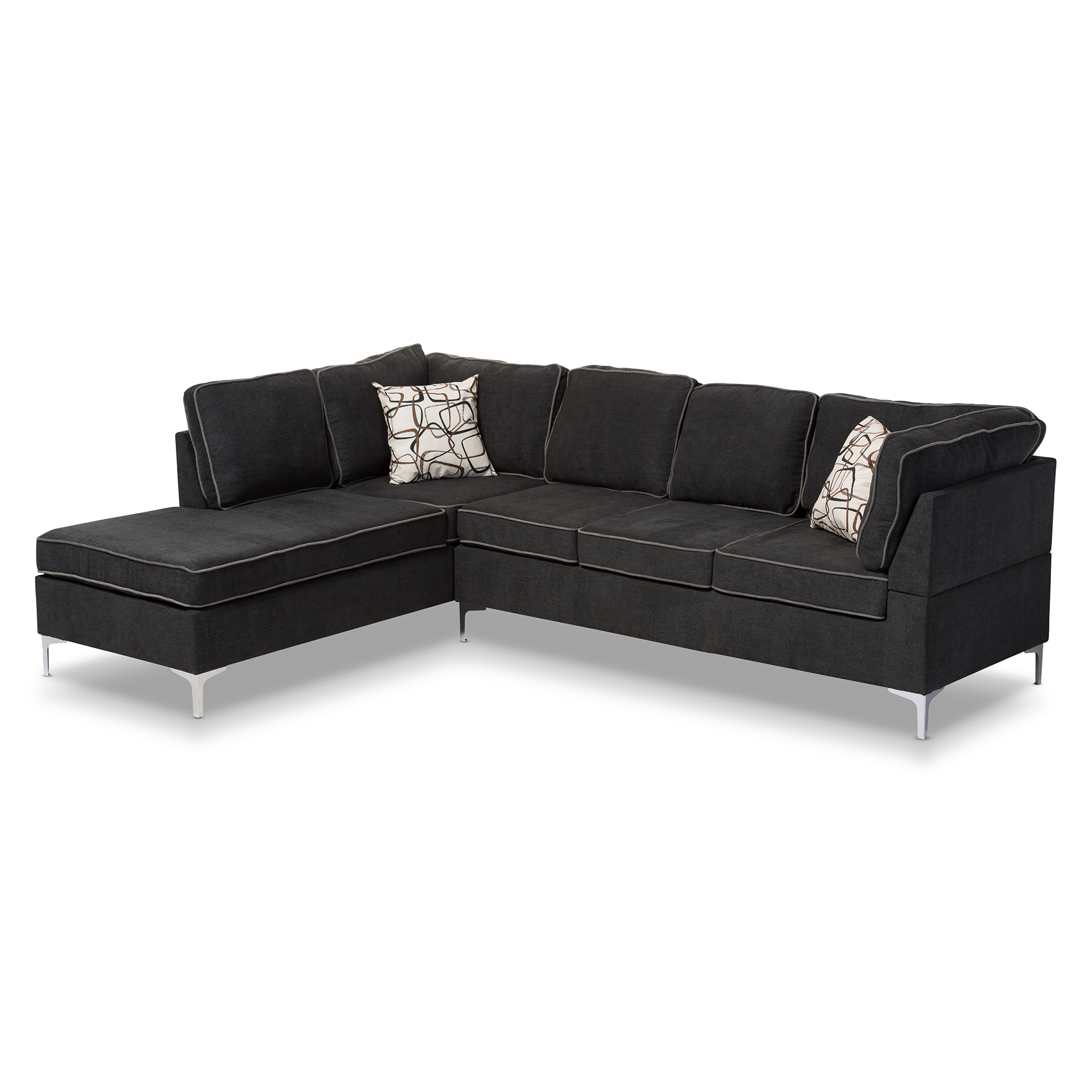Baxton Studio Richie Modern And Contemporary Two-Tone Dark Grey And ...