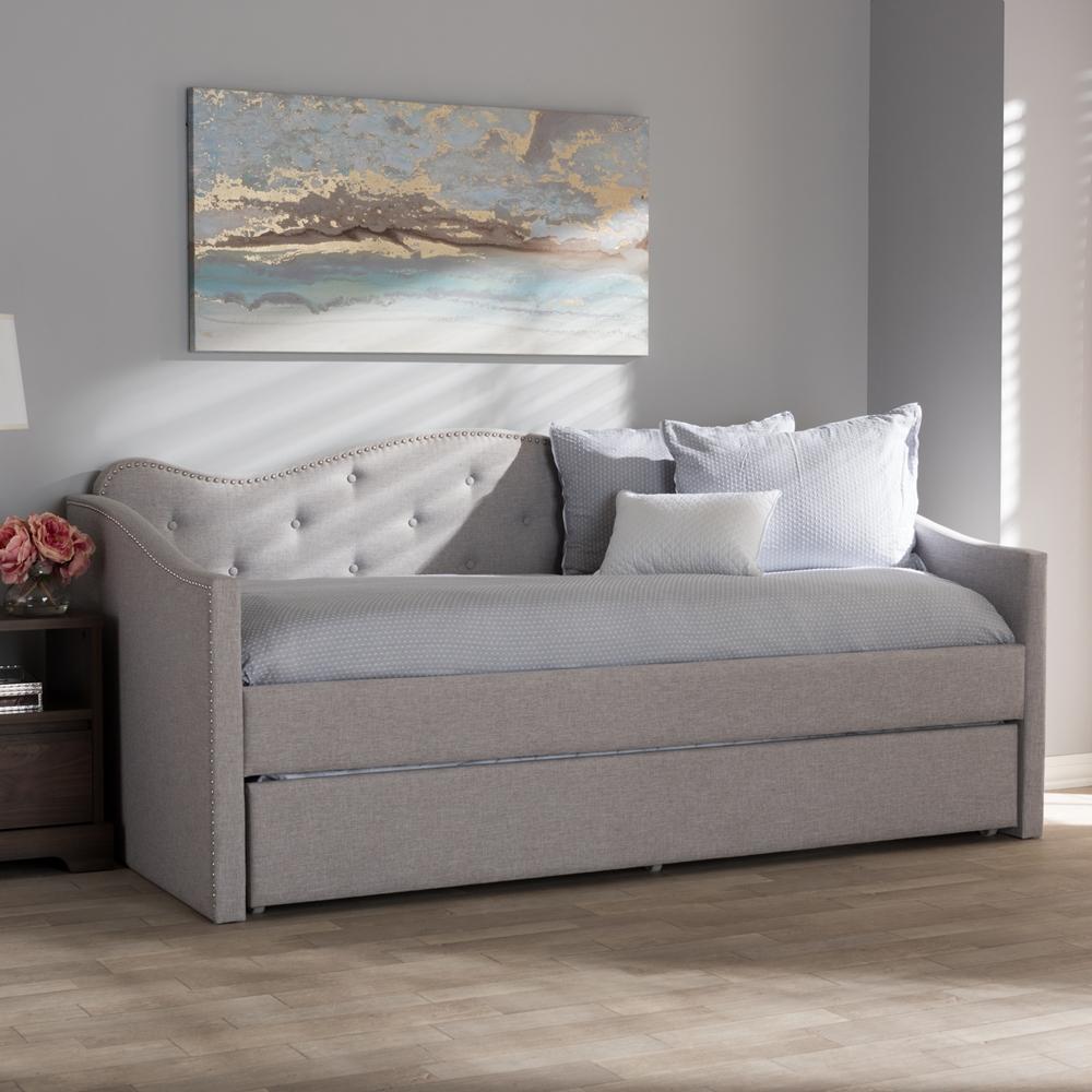 Madrid Taupe Beige Ultra Modern Living Room Furniture 3: Baxton Studio Kaija Modern And Contemporary Greyish Beige