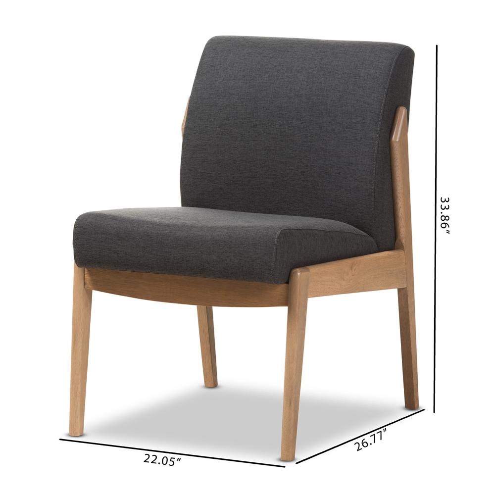 ... Baxton Studio Wera Mid-Century Retro Modern Dark Grey Fabric Slipper Lounge  Chair - BSOBBT5270