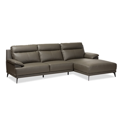 Sectional Sofas Living Room Furniture Affordable Modern - Dark grey leather sectional sofa