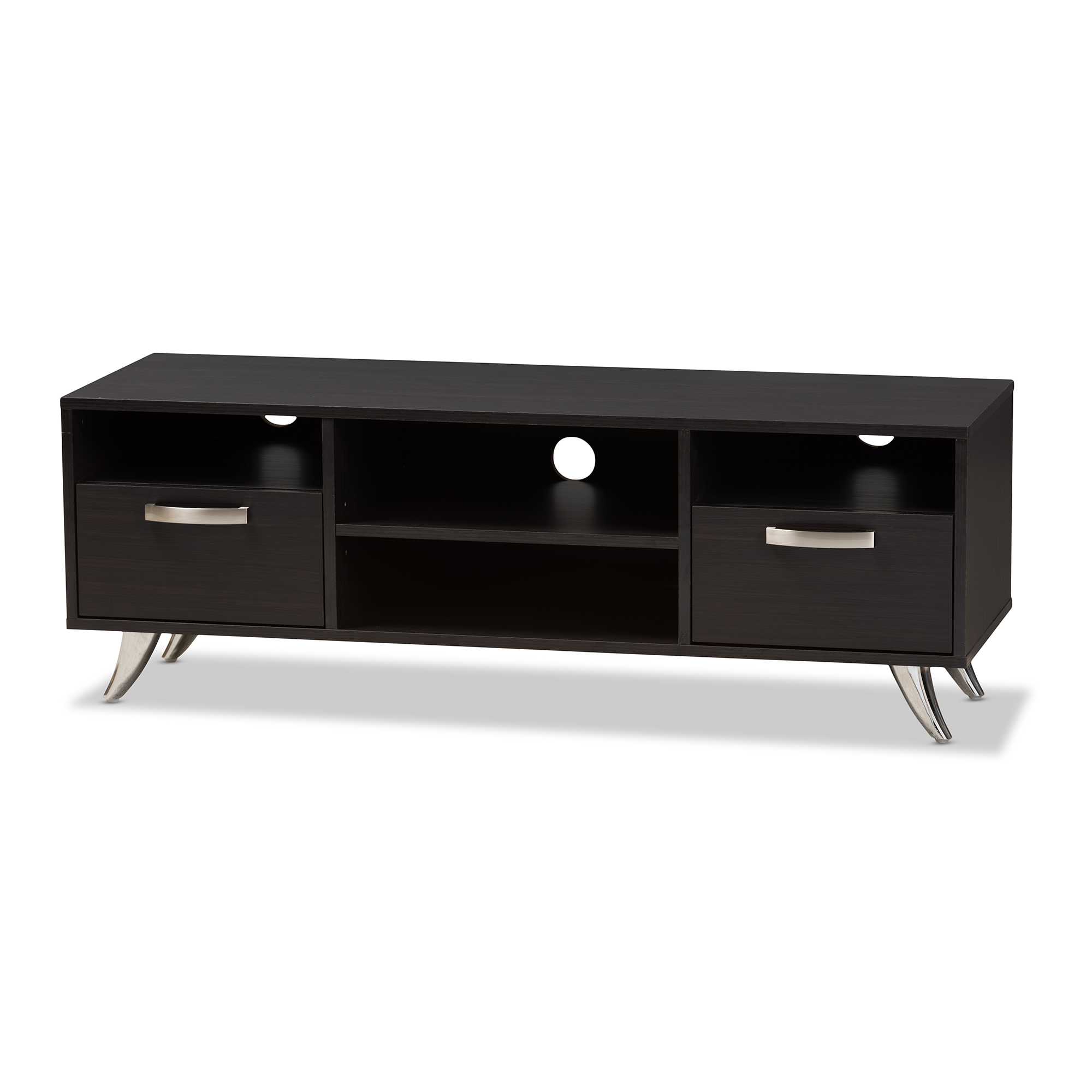 Baxton studio warwick modern and contemporary espresso brown finished wood tv stand