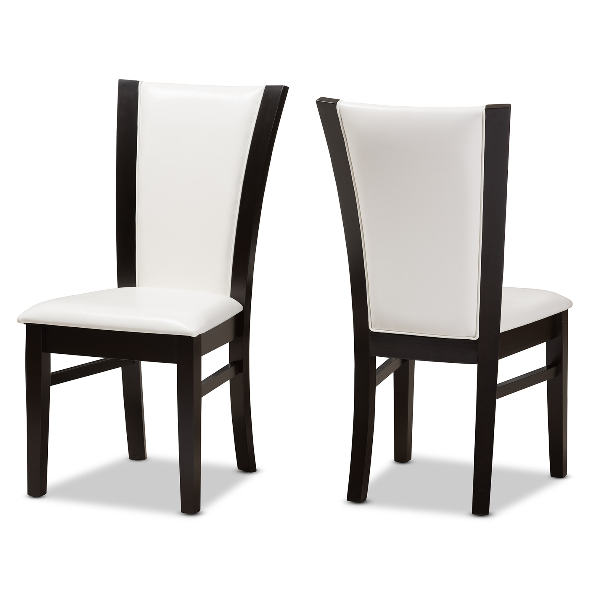 White Leather Dining Room Set: Baxton Studio Adley Modern And Contemporary Dark Brown
