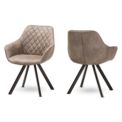 Baxton Studio Pamela Mid-Century Modern Light Brown Fabric Upholstered Dining Chair Set of 2 Affordable modern furniture in Chicago, classic dining room furniture, modern chair, cheap dining chairs