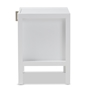 Baxton Studio Mandel Modern and Contemporary White Wood Nightstand - BSOHNS02-White-NS