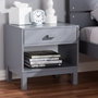 Baxton Studio Deirdre Modern and Contemporary Grey Wood 1-Drawer Nightstand - BSOHNS01-Grey-NS