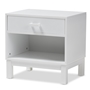 Baxton Studio Deirdre Modern and Contemporary White Wood 1-Drawer Nightstand - BSOHNS01-White-NS