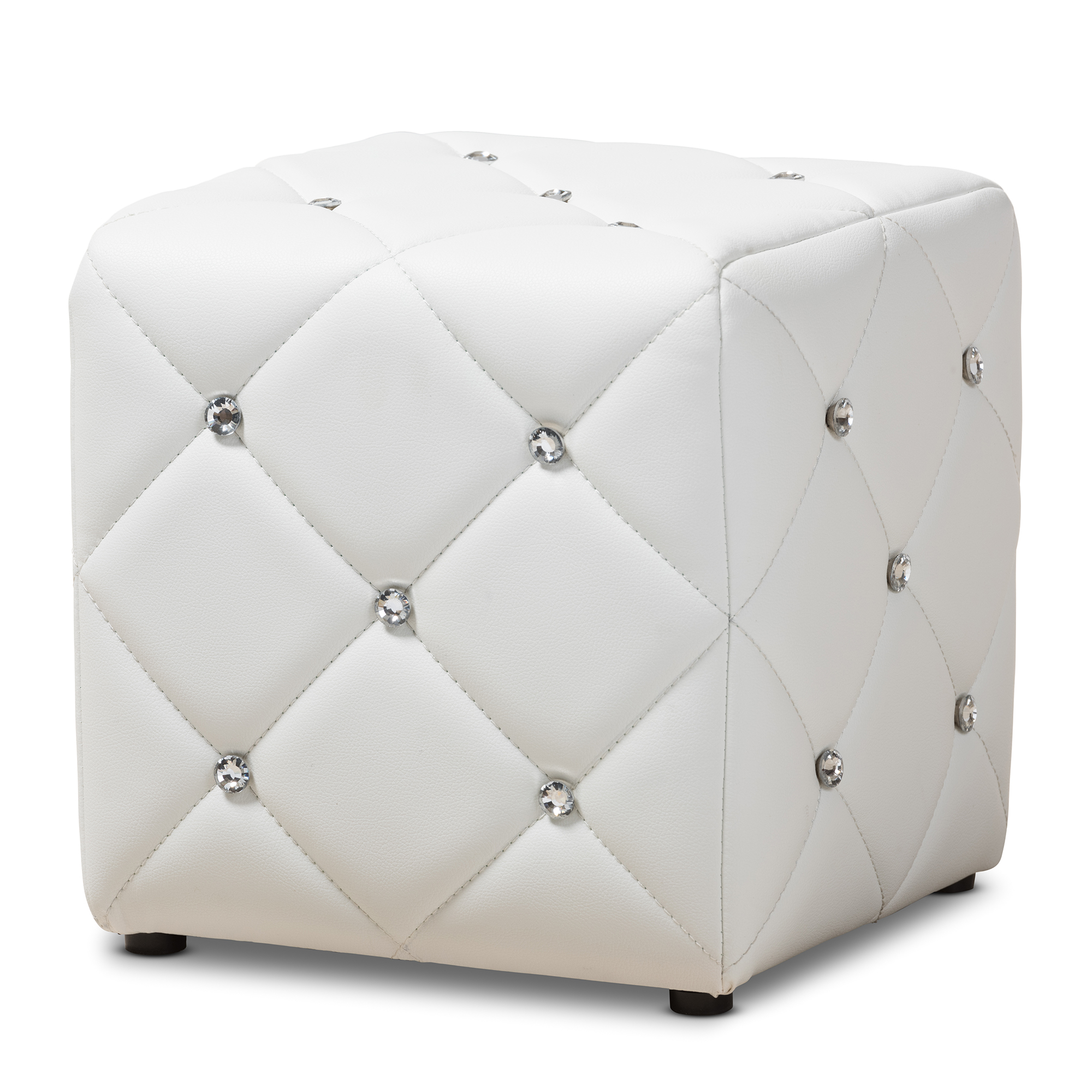 baxton studio stacey modern and contemporary white faux leather