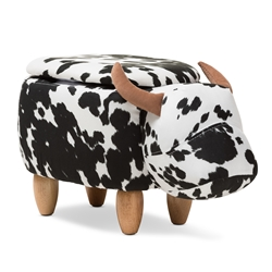 Baxton Studio Mignonne Contemporary Wool Upholstered Buffalo Storage Ottoman Affordable modern furniture in Chicago, classic living room furniture, modern ottoman, cheap ottomans