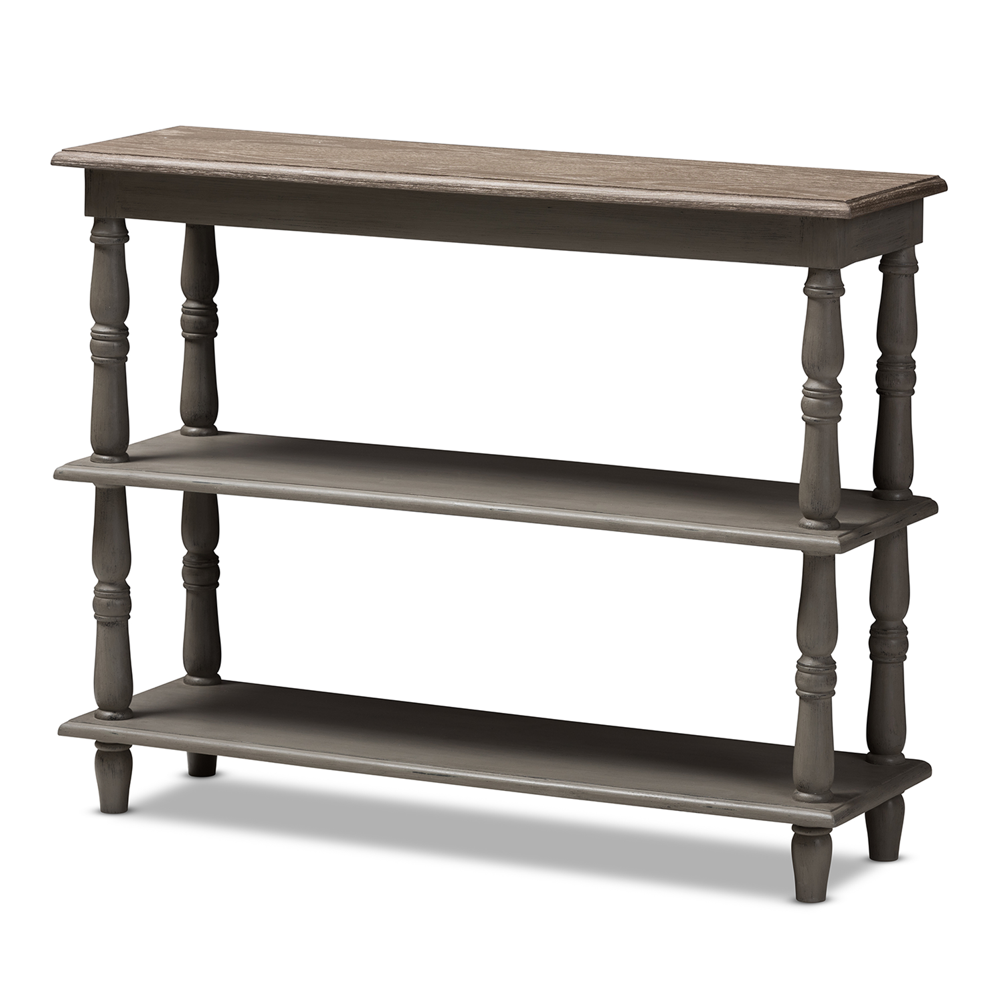Baxton Studio Nellie Country Cottage Farmhouse Weathered Brown - Country cottage console table