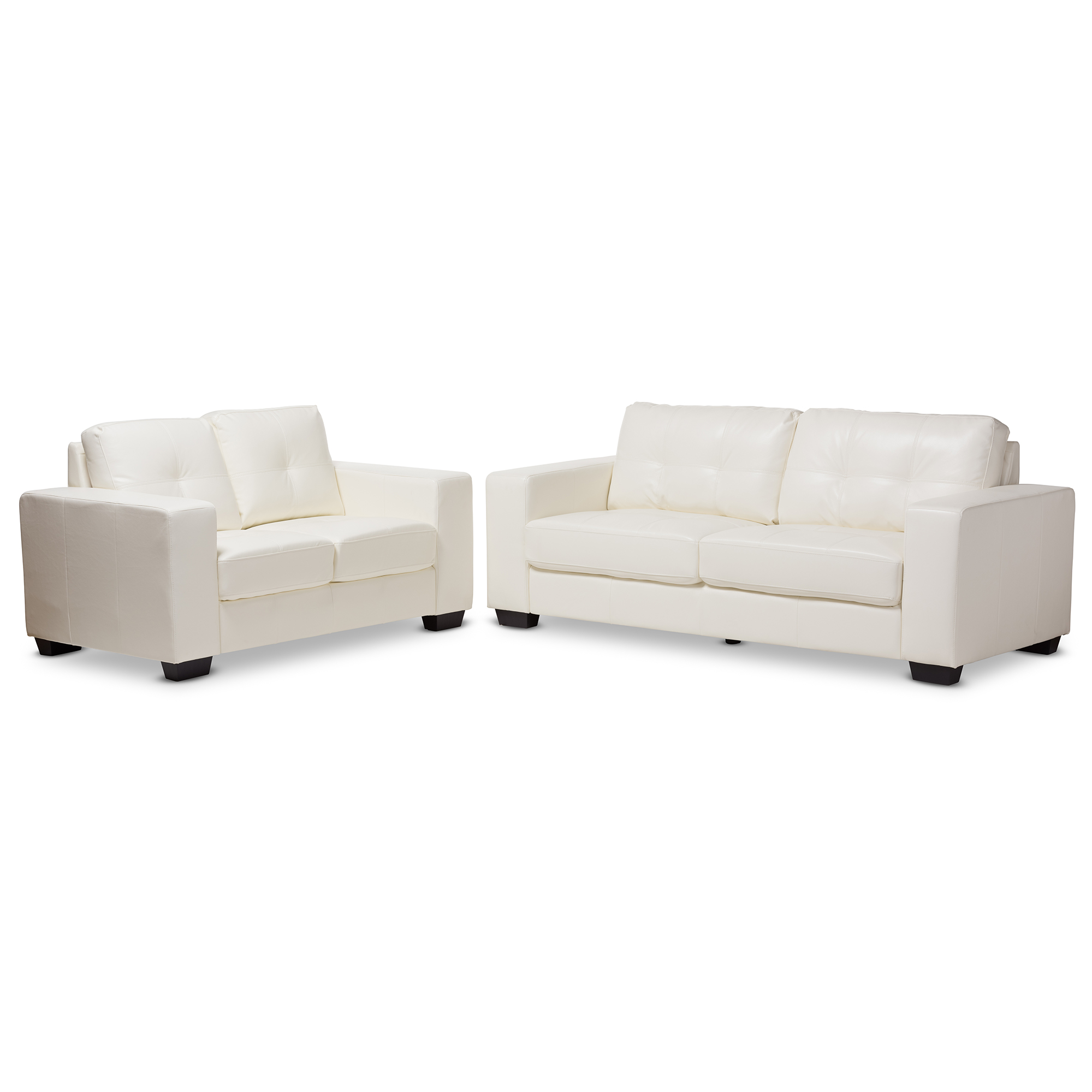 Baxton Studio Adalynn Modern and Contemporary White Faux ...