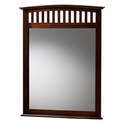 Baxton Studio Metropolitan Modern and Contemporary Merlot Brown Finished Bedroom Mirror Affordable modern furniture in Chicago, classic bedroom furniture, modern mirror, cheap mirrors