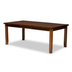 Baxton Studio Megan Modern and Contemporary Walnut Brown Finished Extendable Dining Table Affordable modern furniture in Chicago, classic dining furniture, modern dining table, cheap dining tables