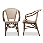 Baxton Studio Artus Classic French Indoor and Outdoor Grey Bamboo Style Stackable Bistro Dining Chair Set of 2 - BSOWA-5101-Grey-DC