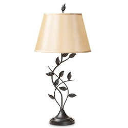 Baxton Studio Cilla Transitional Black Metal Leaf Table Lamp Affordable modern furniture in Chicago, classic living room furniture, modern table lamps, cheap table lamps