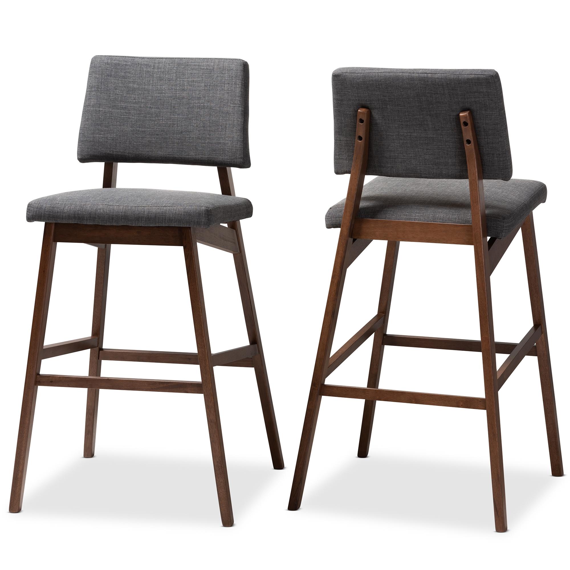 Pleasant Baxton Studio Colton Mid Century Modern Dark Gray Fabric Cjindustries Chair Design For Home Cjindustriesco