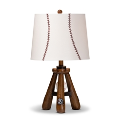 Baxton Studio Ramiro Modern and Contemporary Baseball Table Lamp Affordable modern furniture in Chicago, classic lighting, modern table lamps, cheap table lamps