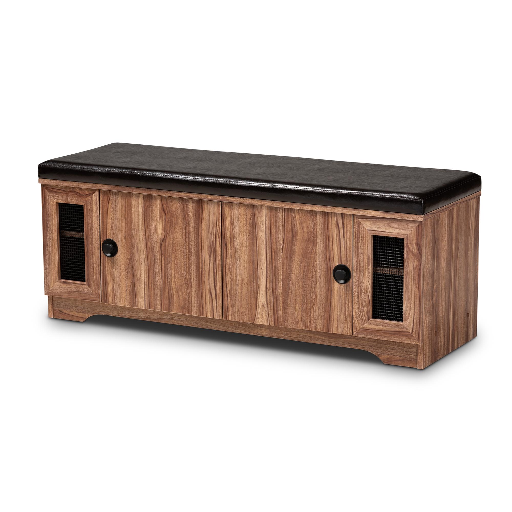 Excellent Baxton Studio Valina Modern And Contemporary Dark Brown Faux Theyellowbook Wood Chair Design Ideas Theyellowbookinfo