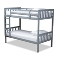 Baxton Studio Jude Modern and Contemporary Grey Finished Wood Twin Size Bunk Bed Affordable modern furniture in Chicago, classic bedroom furniture, modern twin size, cheap twin size