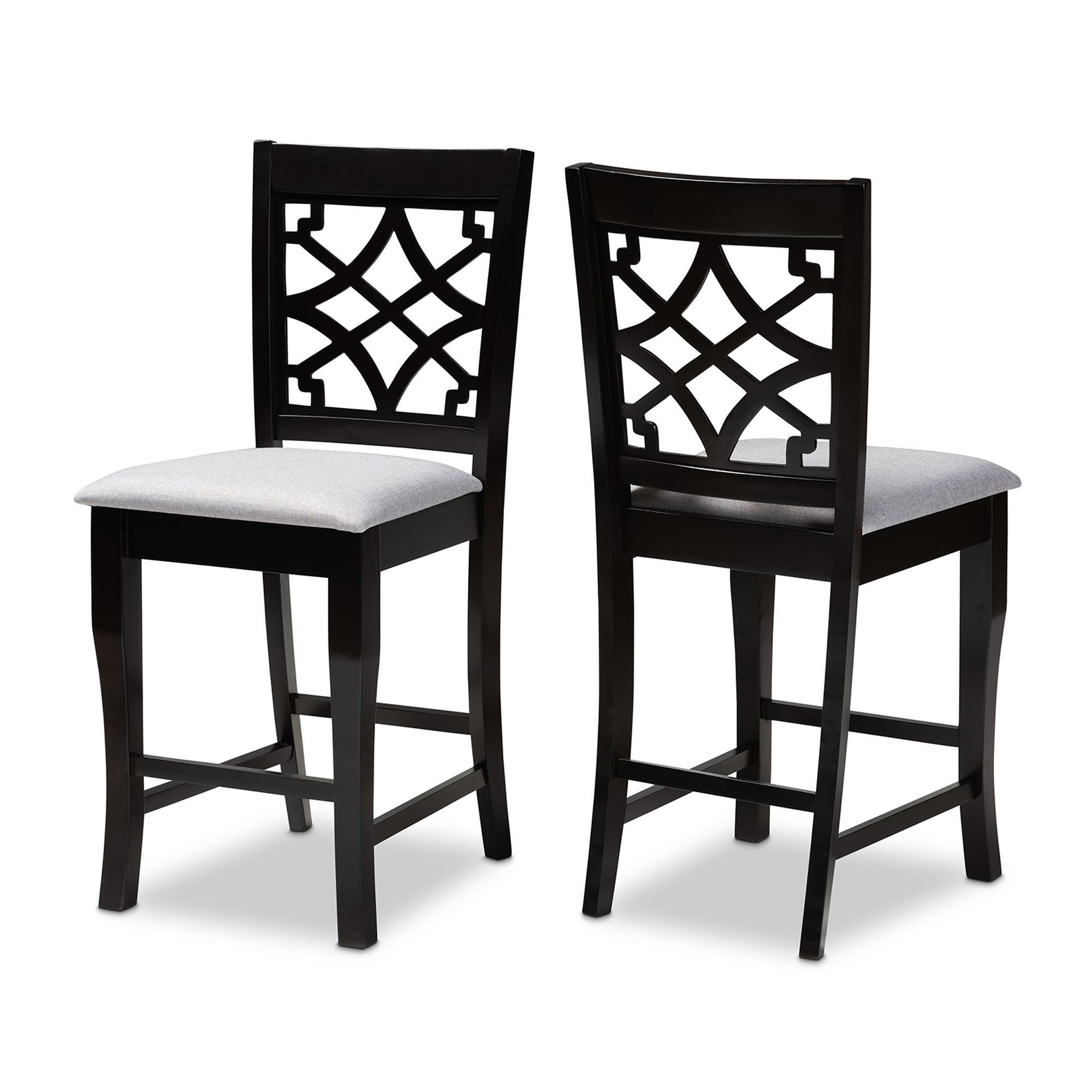 Sensational Baxton Studio Nisa Modern And Contemporary Grey Fabric Andrewgaddart Wooden Chair Designs For Living Room Andrewgaddartcom
