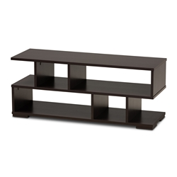 Baxton Studio Arne Modern and Contemporary Dark Brown Finished Wood TV Stand Affordable modern furniture in Chicago, classic living room furniture, modern tv stand, cheap tv stand