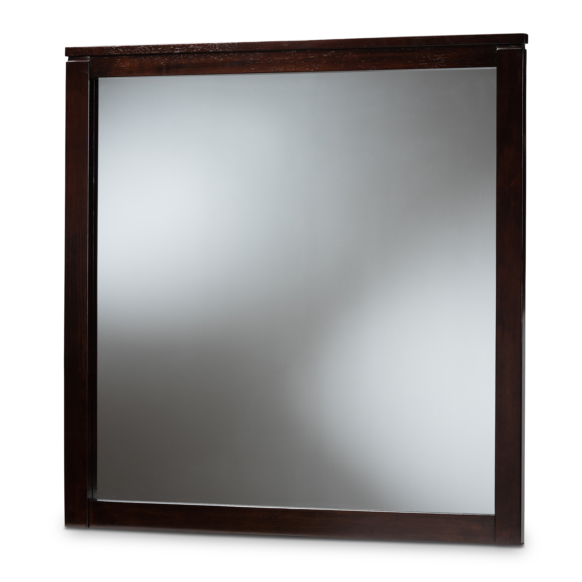 Baxton Studio Eaton Modern And Contemporary Dark Brown Finished Wood Dresser Mirror