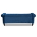 Baxton Studio Emma Traditional and Transitional Navy Blue Velvet Fabric Upholstered and Button Tufted Chesterfield Sofa - BSOEmma-Navy Blue Velvet-SF