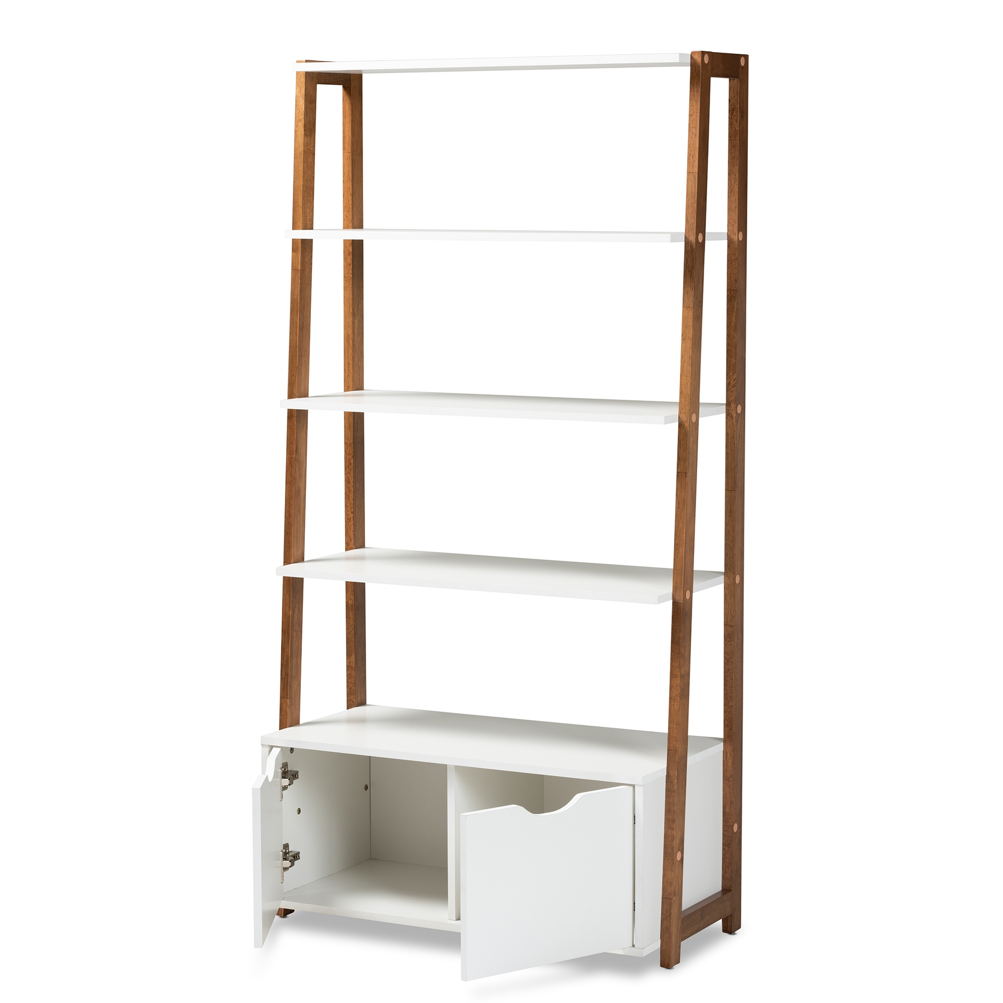 Baxton Studio Senja Modern And Contemporary Two Tone White And Ash Walnut Brown Finished Wood 2