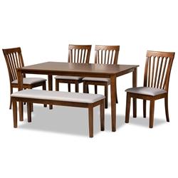 6 Piece Dining Sets Dining Room Furniture Affordable Modern Furniture Baxton Studio Outlet
