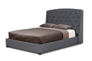 Baxton Studio Ipswich Dark Gray Linen Modern Queen Platform Bed affordable modern furniture in Chicago, Baxton Studio Ipswich Dark Gray Linen Modern Queen Platform Bed,  Bedroom Furniture  Chicago