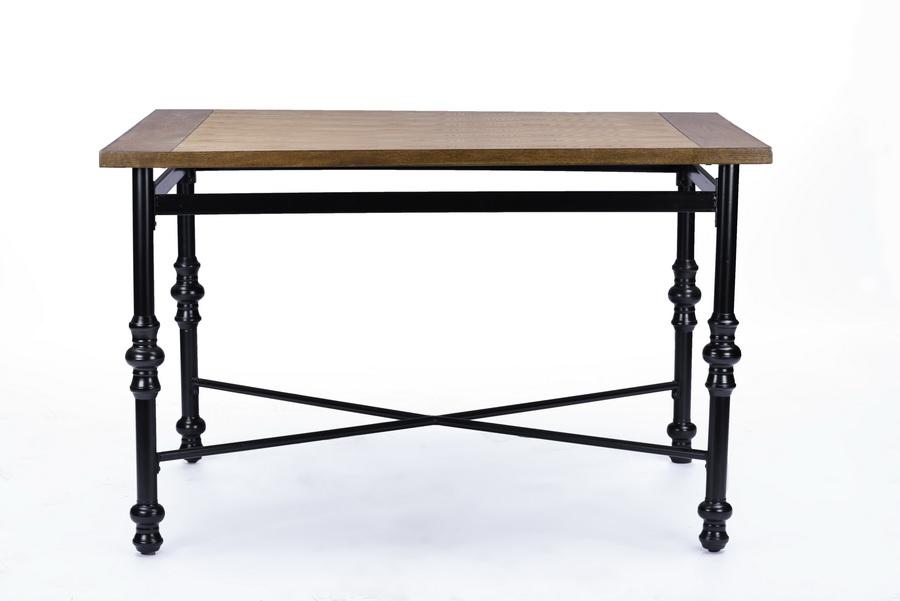 Baxton Studio Broxburn Light Brown Wood U0026 Metal Dining Table   BSOCDC222   ...