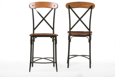 Baxton Studiobroxburn Light Brown Wood Metal Bar Stool Affordable Modern Furniture In Chicago