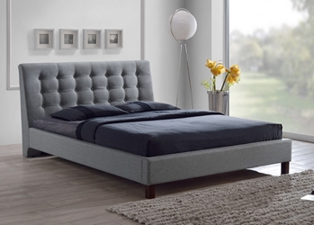 Baxton Studio Zeller Gray Modern Bed with Upholstered Headboard - Queen Size affordable modern furniture in Chicago, Baxton Studio Zeller Gray Modern Bed with Upholstered Headboard - Queen Size, Bedroom Furniture Chicago